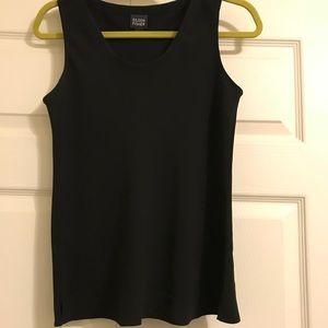 Eileen Fisher silk sleeveless black top